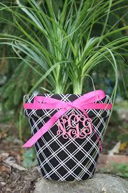 personalized flower pot personalized custom flower pot
