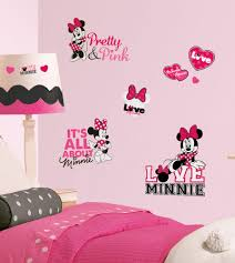 disney minnie mouse loves pink wall decals black white stickers new disney minnie mouse loves pink wall decals black white stickers girls decor roommates