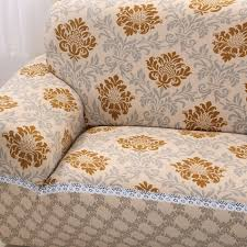 Modern Sofa Slipcovers by Aliexpress Com Buy Gold Pattern Modern Sofa Covers For 1 4 Seat