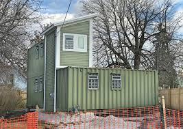 Black Rock Shipping Container House  Buffalo Rising