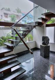 Staircase With Granite Flooring Design Photos
