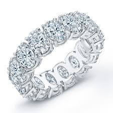 eternity wedding bands 5 00 carat t w oval cut diamond eternity wedding band