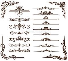 vector vintage ornaments corners borders stock vector image