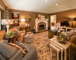 Country French Living Traditional Family Room Kansas City - Family room in french
