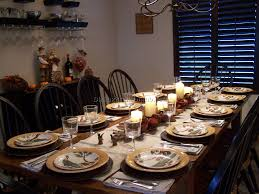dining room table setting formal or informal setting nice