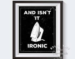 ironic wall etsy