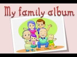 my photo album family tree language