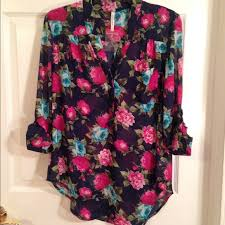 floral chiffon blouse 78 boutique tops navy floral chiffon blouse from natalie s