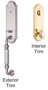 Exterior Door Lockset Emtek Orleans Brass Entry Door Handle Shop Entry Set Door Locks