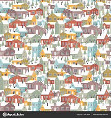 Different Houses by Pattern With Different Houses U2014 Stock Vector Radiocat 134115834