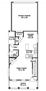 narrow townhouse plans 4055