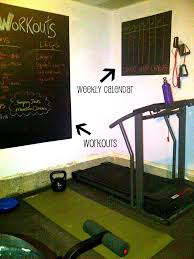Home Gym Decorating Ideas Photos Home Gym U2013 Update Gym Blackboards And Workout