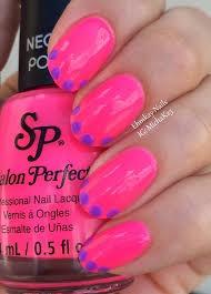 ehmkay nails salon perfect neons purple pop and wrapped around