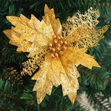 amazon com bluelans gold glitter poinsettia christmas tree
