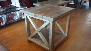 X Side Table White Rustic X Side Table Diy Projects