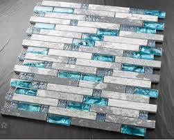 Kitchen Backsplash Tiles Glass Blue Shell Tile Glass Mosaic Kitchen Backsplash Tiles Sgmt026 Grey