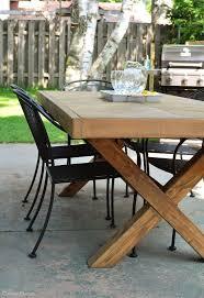 Build A Patio Table Diy Outdoor Table Diy Outdoor Table Outdoor Tables And Free