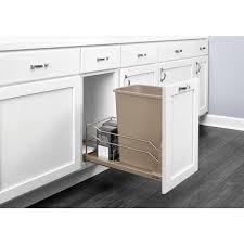 In Cabinet Trash Cans For The Kitchen Pull Out Trash Cans Kitchen Cabinet Organizers The Home Depot