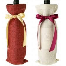 wine bottle bow wholesale jute wine bottle bags bow tie ribbon wedding and