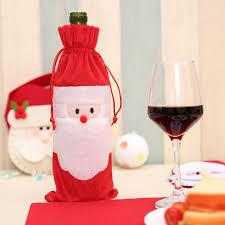 christmas dinner order online festival santa wine bottle cover pouch bag christmas dinner