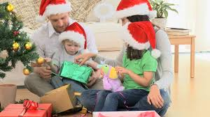 family gift giving christmas hd stock video 626 089 106