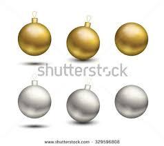 golden silver balls set vector stock vector 329596808