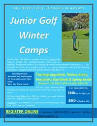 junior golf winter cs now open thanksgiving winter