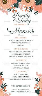 menu template wedding wedding menu design template in psd word publisher illustrator