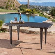 Patio Tables Only Rectangle Outdoor Dining Tables For Less Overstock Com