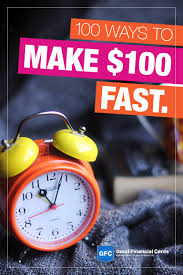 make money fast 107 easy ways to make 100 or even more