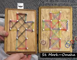 sunday craft u0027string art u0027 crosses for holy week but
