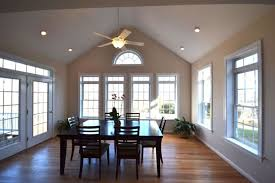 Dining Room Recessed Lighting Dining Room With Recessed Lights And Ceiling Lighted Fan Vaulted