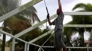 Painting Aluminum Screen Enclosures by 561 283 2223 Pool Screen Enclosure Repair Rescreening In Boca