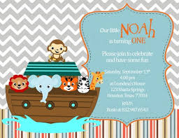 noah ark baby shower noah s ark invitation for birthday and baby shower party in