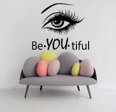 eye wall decals model beautiful words beauty salon vinyl