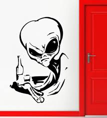online get cheap alien space stickers aliexpress com alibaba group wall sticker home decor alien ufo space fantasy drinking