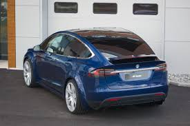suv tesla blue fab design releases model x body kit the suv still looks bad