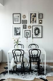 white dining table with black chairs with inspiration design 12985
