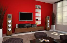red living room paint color with tv nice room with television idea