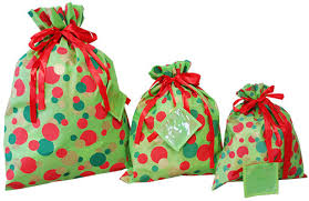 gift bags christmas closeout shopping bags christmas dot fabric totes the packaging