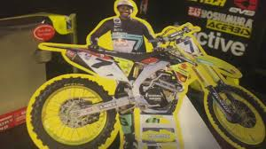 model motocross bikes james stewart 1 12 scale model toy dirt bike rm z 450 youtube