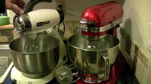 Kitchenaid Artisan Mixer by Kitchenaid Artisan Mixer Compared With Sunbeam Heritage Series
