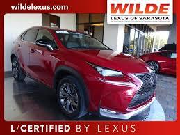 wilde lexus of sarasota certified pre owned 2016 lexus nx 200t fwd 4dr f sport sport