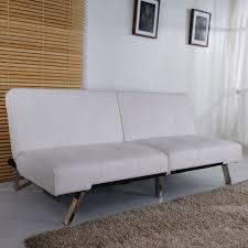 White Leather Sleeper Sofa Furniture Captivating White Leather Sofa Bed Royale Faux Fold