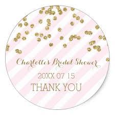 bridal shower favor tags pink gold stripes bridal shower favor tags zazzle