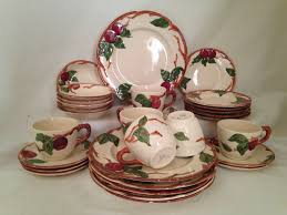 franciscan dishes franciscan apple dinnerware production usa 1940 s 34 pc