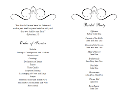 One Page Wedding Program Wedding Program Word Template Apa Reference Page Template
