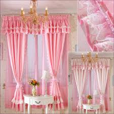 Pink Ruffle Curtains Panels by Living Room Priscilla Swag Curtains Full Kitchen Curtains White
