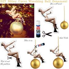 diy miley cyrus wrecking ornament polyvore