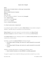 template appeal letter lexcares sample appeal letter this sample letter will serve as a guide for any appeal letter you may need to write